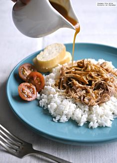Slow Cooker Pork, Slow Cooker Recipes, Crockpot Recipes, Cooking Recipes, Pulled Pork Receta, Recetas Crock Pot, Slow Food, Summer Recipes, Curry