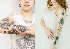 """Brian Gomes, artista plástico e tatuador brasileiro, desenvolveu um estilo único para as suas tatuagens. Inspirado na geometria sagrada e nos desenhos indígenas de milhares de anos, Brian tem inspirado à todos com seu trabalho bastante peculiar. """"Sou constantemente inspirado pelos gráficos indígenas brasileiros, pela geometria sagrada, ..."""
