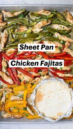 Mexican Food Recipes, New Recipes, Dinner Recipes, Cooking Recipes, Favorite Recipes, Healthy Recipes, One Pot Meals, Easy Meals, Chicken Fajitas
