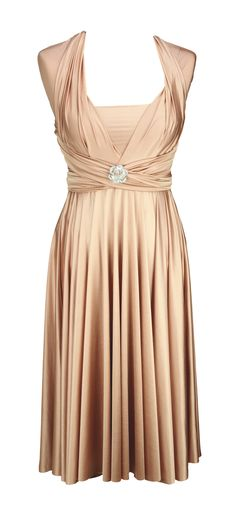 Classic Short Straight Rosewater from Two Birds Bridesmaid