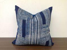 Vintage Tribal Textile Indigo cotton Batik by orientaltribe11, $50.00