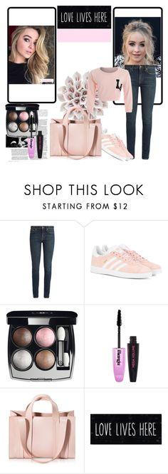"""Sans titre #810"" by tva-lpz ❤ liked on Polyvore featuring Yves Saint Laurent, adidas Originals, Chanel, L'Oréal Paris, Corto Moltedo, Marc Jacobs and Pink"
