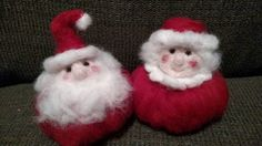 Check out this item in my Etsy shop https://www.etsy.com/listing/255614563/wool-felted-snowball-santa-and-mrs-claus