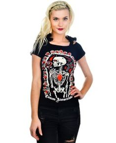 Women's Annabel Bow T-Shirt - Corazon Atormentado