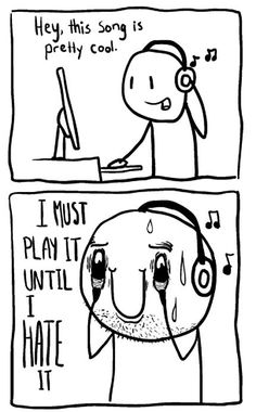 When I love a song.