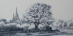 "The Trees of Lichfield III Acrylic on Canvas 40"" x 20"" £895"