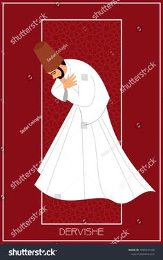 Sufi or Dervish. Symbolic study of mevlevi mystical dance. You can use it as a table, wall clock, wall paper, banner, gift card or book separator. The Glass Menagerie, Whirling Dervish, Turkish Art, Dance Lessons, Painting Lessons, Calligraphy Art, Islamic Art, Royalty Free Images, Stock Photos