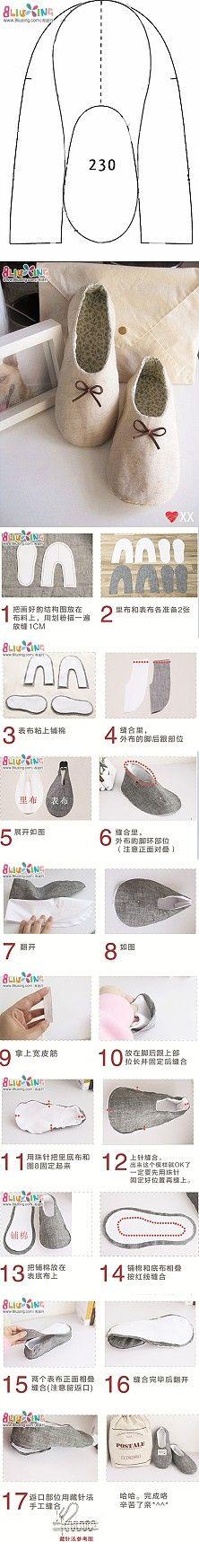 Métodos de produção domésticas sapatos