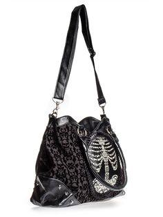Banned Skeleton Frame Bag Black