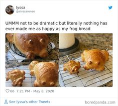 Good Food, Yummy Food, Cute Frogs, Wholesome Memes, Baking Recipes, Stuffed Mushrooms, Food And Drink, Tasty, Treats