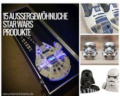 Darumbinichblank.de I 15 Außergewöhnliche Star Wars Produkte......Wir haben eine kleine Liste mit geeky Artikeln für alle Star Wars Fans zusammengestellt. #starwars #gadgets
