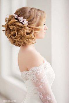 wedding updo hairstyle ideas with headpiece via elena radoman - Deer Pearl Flowers / http://www.deerpearlflowers.com/wedding-hairstyle-inspiration/wedding-updo-hairstyle-ideas-with-headpiece-via-elena-radoman/