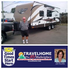 Congratulations to Bill on the purchase of his 2015 Cougar 21RBS Platinum #traveltrailer from Maureen! #cougarrv #camping #rving #summervacation