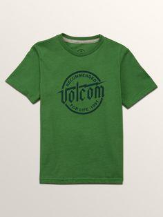 Volcom Little Boys Boltz Short Sleeve Tee - Dark Kelly 3T