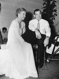 Barbara Stanwyck and Clark Gable