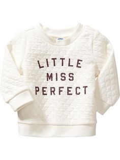 Quilted Graphic Sweatshirts for Baby