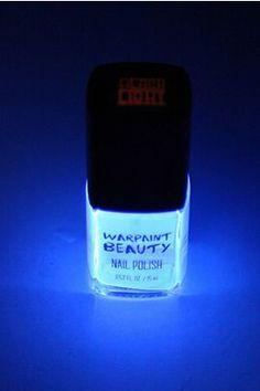 $4 at Hot topic; Black Light Nail Polish