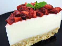 Tarta de yogur con fresas Main Menu, Dessert Recipes, Desserts, Panna Cotta, Cheesecake, Cookies, Chocolate, Ethnic Recipes, Food