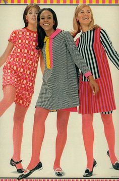 """My formative years. Colleen Corby and others in """"razzle dazzle knits"""", Seventeen, 1967 60s And 70s Fashion, Mod Fashion, Teen Fashion, Vintage Fashion, Fashion Models, Fashion Trends, Sporty Fashion, Gothic Fashion, Fashion Women"""
