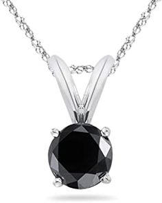 Round Black Diamond Solitaire Pendant AAA Quality in 14K White Gold Available in Small to Large Sizes #necklacependantgold #pendantdiy #pendantjewelry #pendantnecklacediy #pendantnecklacediamond #necklacependantdiamond #pendantwhitegold #pendantnecklace #diyjewelrypendant #beadnecklace #pendant #necklace #jewelrypendants #necklacependantdiy #necklacependantsilver #necklacependantunique #pendantnecklaceunique #simplependantnecklace #diypendantnecklace #diynecklacependant #diamondpendants Diamond Pendant Necklace, Pendant Jewelry, Beaded Necklace, Black Diamond, White Gold, Pendants, Beaded Collar, Pearl Necklace, Trailers