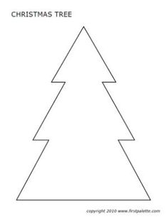 Free, Printable Christmas Tree Templates In All Shapes and Sizes: Christmas Tree Templates at FirstPalette
