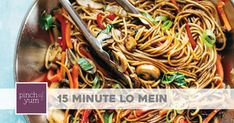 Use rice vinegar as mirin substitute adding half teaspoon of sugar per tablespoon. THE BEST Easy Lo Mein! Five-ish ingredients and SO YUMMY! Naturally vegan / vegetarian, or you can add protein of choice. Chinese Vegetables, Mixed Vegetables, Veggies, Vegan Vegetarian, Vegetarian Recipes, Cooking Recipes, Vegetarian Dinners, Healthy Recipes, Tomato Butter Sauce