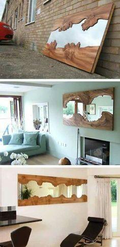 Espejo con madera