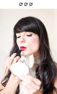 The Cherry blossom Girl x Galeries Lafayette - Makeup pin up tutorial