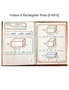 5th Grade Interactive Math Notebook - Measurement & Data and Geometry. Common Core Aligned.