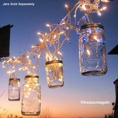 Fairy Lights Lanterns 6 DIY Mason Jar Hangers, Twist On Hanging Wide Mouth Mason Jar Lids, No Jars- for the chill out room. Use the Christmas lights Wide Mouth Mason Jars, Mason Jar Lids, Mason Jar Crafts, Mason Jar Lanterns, Mason Jar Lighting, Fairy Lanterns, Rustic Lanterns, Diy Christmas Light Decorations, Frozen Decorations