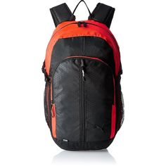 f4a89bb868c5 Puma 24.5 Ltrs Black and Red Blast Casual Backpack (7375811)
