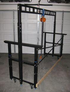 Finished Gantry Frame Hoist Used to Lift & Move Lathe