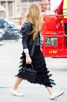 fringe trend, street style