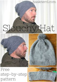 Slouchy Hat | Haaknerd. Free photo tutorial crochet pattern