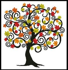Thrilling Designing Your Own Cross Stitch Embroidery Patterns Ideas. Exhilarating Designing Your Own Cross Stitch Embroidery Patterns Ideas. Fall Cross Stitch, Cross Stitch Tree, Counted Cross Stitch Patterns, Cross Stitch Charts, Cross Stitch Designs, Learn Embroidery, Crewel Embroidery, Cross Stitch Embroidery, Embroidery Patterns