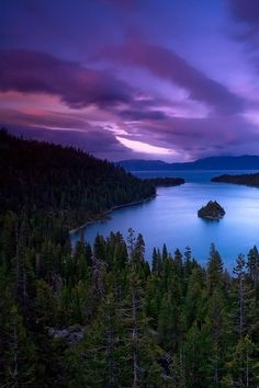Summer camp at Lake Tahoe. Purple Sunset @ Emerald Bay Sunset: Lake Tahoe by Stephen Oachs Oh The Places You'll Go, Places To Travel, Places To Visit, Beautiful World, Beautiful Places, Beautiful Pictures, Beautiful Scenery, Lago Tahoe, Tres Belle Photo