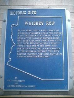 Prescott Arizona Whiskey Row   Whiskey Row Marker Photo, Click for full size