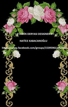 Etamin seccade şablonları Easy Cross Stitch Patterns, Cross Stitch Bird, Simple Cross Stitch, Cross Stitch Flowers, Paper Embroidery, Embroidery Patterns, Prayer Rug, Rose Bouquet, Flower Designs