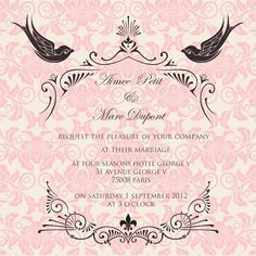 French Fancy wedding invitation by Ananya