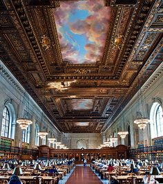 NY Public Library I think it's a perfect place to expand your mind and soul. A blessing for all New Yorkers .