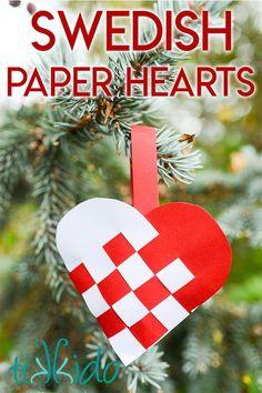 Swedish Woven Paper Heart