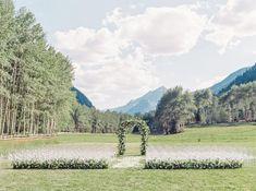 A Breathtaking Pop Of Blue Wedding In Aspen