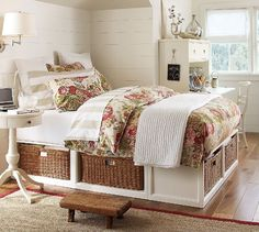 I want this type of platform for all the beds in my house.  I HATE BED SKIRTS!