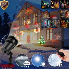 Lazer Led Lights Show Projector Spotlight Decoration Christmas Halloween Outdoor #LaserLightsShow