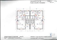 Plan maison jumelée plein pied | plan | Pinterest | Plein pied ...