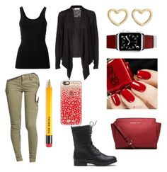 """""""School"""" by ahriraine ❤ liked on Polyvore featuring STS Blue, Theory, Rosemunde, MICHAEL Michael Kors, Casetify and Marc by Marc Jacobs"""