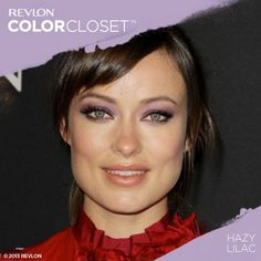 We love how Olivia Wilde paired a Hazy Lilac eye with a bold red top. #ColorCloset