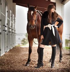 Love the horse! but the clothes...Really?? because this is totally what I would wear to the barn -_-