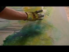 Acrylmalerei Fließtechnik Farben verdünnen, Fluid Acrylic Painting how to thin down paint colors - YouTube