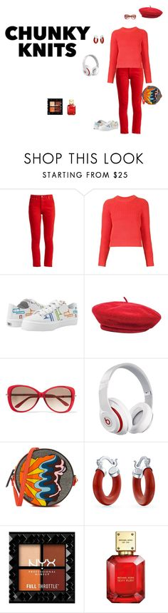 """""""Chunky Knits"""" by canoe-communicationsblog ❤ liked on Polyvore featuring RE/DONE, T By Alexander Wang, Brixton, Tom Ford, Beats by Dr. Dre, Olympia Le-Tan, Bling Jewelry and Michael Kors"""